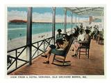 Old Orchard Beach, Maine - Hotel Veranda View Affischer av  Lantern Press