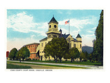 Coquille, Oregon - Coos County Courthouse Exterior Prints by  Lantern Press