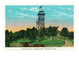 Chattanooga, Tennessee - General View of Gen. Bragg's HQ Tower, Missionary Ridge Print by Lantern Press