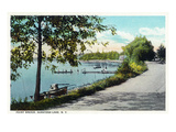 Saratoga Springs, New York - View of Point Breeze at Saratoga Lake Prints by  Lantern Press