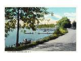 Saratoga Springs, New York - View of Point Breeze at Saratoga Lake Prints by  Lantern Press