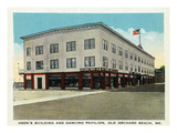 Old Orchard Beach, Maine - Usen's Building and Dancing Pavilion Posters by Lantern Press