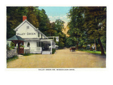 Philadelphia, Pennsylvania - Valley Green Inn, Wissahickon Drive Scene Affiche par  Lantern Press