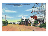 New Orleans, Louisiana - Pontchartrain Beach Amusement Park Print by Lantern Press