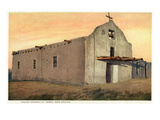Jemez, New Mexico - Exterior View of an Indian Church Prints by  Lantern Press