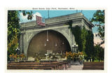 Rochester, Minnesota - City Park, View of the Band Stand Prints by Lantern Press 