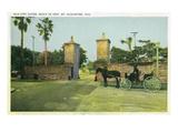 St. Augustine, Florida - Old City Gates View Prints by  Lantern Press
