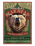 Bear Head Pale Ale - Alaska Art by  Lantern Press