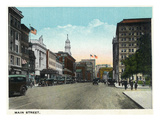 Hartford, Connecticut - Main Street Scene Prints by Lantern Press