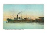 Coos Bay, Oregon - Ships Loading Lumber Scene Kunstdrucke von  Lantern Press