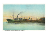 Coos Bay, Oregon - Ships Loading Lumber Scene Prints by  Lantern Press