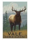 Vale, Oregon - Elk on Hillside Scene Posters by  Lantern Press