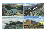 White Mountains, NH - Mt. Washington Views, Jacob's Ladder Posters by  Lantern Press