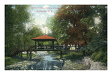 Rochester, New York - Allen&#39;s Creek Rustic Bridge View Posters by Lantern Press 