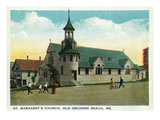 Old Orchard Beach, Maine - St. Margaret's Church Exterior Prints by Lantern Press