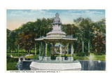 Saratoga Springs, New York - City Park Pergola View Posters by  Lantern Press