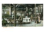 Saratoga Springs, New York - View of Hathorn Spring Prints by  Lantern Press