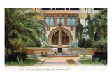St. Augustine, Florida - Hotel Ponce De Leon Courtyard Scene Prints by  Lantern Press
