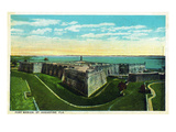 St. Augustine, Florida - Panoramic View of Fort Marion Prints by  Lantern Press