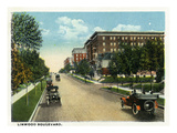 Kansas City, Missouri - View Down Linwood Boulevard Print by  Lantern Press