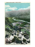 Golden, Colorado - Castle Rock Funicular Railway View of Clear Creek Valley Prints by  Lantern Press