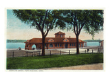 Fort Madison, Iowa - Exterior View of the Santa Fe Train Depot Posters by  Lantern Press