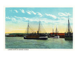 Bandon, Oregon - Lumber Ships in the Bandon Harbor Prints by  Lantern Press