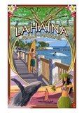 Lahaina, Maui, Hawaii - Town Scenes Montage Prints by  Lantern Press