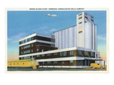 Grand Island, Nebraska - Mills Company Plant Exterior Prints by  Lantern Press