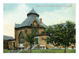 Schenectady, New York - Presbyterian Church View from Union Ave Print by  Lantern Press