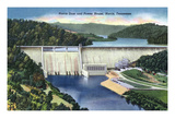 Norris, Tennessee - View of Norris Dam and the Power House Prints by  Lantern Press