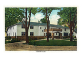 Springfield, Missouri - Exterior View of the Country Club Prints by Lantern Press