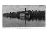 Florida - Riverboat on St. John's River Print by  Lantern Press