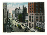 Hartford, Connecticut - Main Street Scene Poster by  Lantern Press