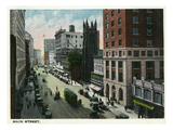 Hartford, Connecticut - Main Street Scene Poster by  Lantern Press