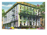 Saratoga Springs, New York - New Worden Hotel Exterior View Print by  Lantern Press