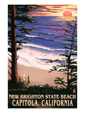 New Brighton State Beach - Sunset Scene Posters by  Lantern Press