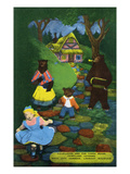 Lookout Mountain, Tennessee - Fairyland Caverns, Interior View of Goldilocks and the 3 Bears Posters by  Lantern Press