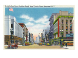 Syracuse, New York - South View Down Salina St from Fayette St Prints by  Lantern Press
