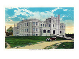 Springfield, Missouri - Exterior View of the Pythian Home of Missouri Prints by  Lantern Press