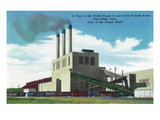 Oak Ridge, Tennessee - Exterior View of the Power House Art by  Lantern Press