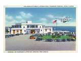 Miami, Florida - Pan-American Airways Terminal, Clipper Arriving from Jamaica Art by  Lantern Press