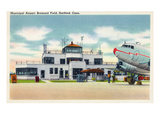 Hartford, Connecticut - Brainard Field Municipal Airport View Print by Lantern Press 