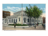 Schenectady, New York - Post Office Exterior View Art by Lantern Press 