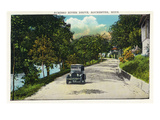Rochester, Minnesota - Scenic View Along Zumbro River Drive Prints by  Lantern Press