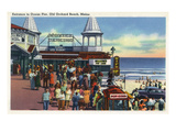 Old Orchard Beach, Maine - Ocean Pier Entrance Scene Print by  Lantern Press