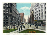 Cleveland, Ohio - Euclid Avenue East from Public Square Prints by Lantern Press