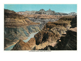 Grand Canyon Nat'l Park, Arizona - Colorado River from Plateau Poster by  Lantern Press