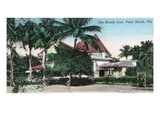 Palm Beach, Florida - The Beach Club Exterior Print by  Lantern Press