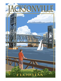Jacksonville, Florida - Bridge Scene Prints by  Lantern Press